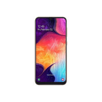 "Samsung Galaxy A50 - Smartphone - dual-SIM - 4G LTE - 128 GB - microSDXC slot - GSM - 6.4"" - 2340 x 1080 pixels (408 ppi) - Super AMOLED - RAM 4 GB (25 MP front camera) - 3x rear cameras - Android - Coral"
