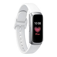 Samsung Galaxy Fit - Silver - Activity Tracker With Strap - Fluoroelastomer - White - Band Size 132-195mm - Display AMOLED Technology - Bluetooth