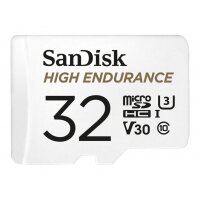 SanDisk High Endurance - Flash memory card (microSDHC to SD adapter included) - 32 GB - Video Class V30 / UHS-I U3 / Class10 - microSDHC UHS-I