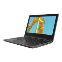 "Lenovo 300e (2nd Gen) 81M9 - Flip design - Celeron N4100 / 1.1 GHz - Windows 10 Pro National Academic - 4 GB RAM - 128 GB eMMC - 11.6"" IPS touchscreen 1366 x 768 (HD) - UHD Graphics 600 - Wi-Fi, Bluetooth - black - kbd: English - United Kingdom"