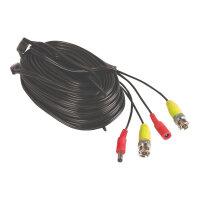 Yale - Power/video extension cable - BNC, DC jack (M) to BNC, DC jack - 30 m