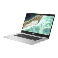 "ASUS Chromebook C523NA A20117 - Pentium N4200 / 1.1 GHz - Chrome OS - 8 GB RAM - 64 GB eMMC - 15.6"" touchscreen 1920 x 1080 (Full HD) - HD Graphics 505 - 802.11ac - silver (top), black (LCD cover)"