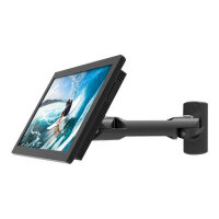 """Compulocks Swing Arm Samsung TouchScreen Wall Mount Black - Mounting kit (swing arm) for tablet - high-grade aluminium - black - screen size: 10.1"""" - desktop, under-the-cabinet - for Samsung DB10E-T"""