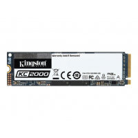 Kingston KC2000 - Solid state drive - encrypted - 250 GB - internal - M.2 2280 - PCI Express 3.0 x4 (NVMe) - 256-bit AES - TCG Opal Encryption 2.0