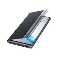 Samsung Clear View Cover EF-ZN970 - Flip cover for mobile phone - black - for Galaxy Note 10 (Unlocked), Note10