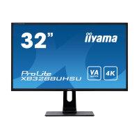 "iiyama ProLite XB3288UHSU-B1 - LED monitor - 32"" (31.5"" viewable) - 3840 x 2160 4K - VA - 300 cd/m² - 3000:1 - 3 ms - 2xHDMI, DisplayPort - speakers - matte black"