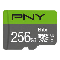 PNY Elite - Flash memory card - 256 GB - A1 / Video Class V10 / UHS Class 1 / Class10 - microSDXC UHS-I