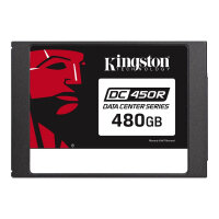 """Kingston Data Center DC450R - Solid state drive - encrypted - 480 GB - internal - 2.5"""" - SATA 6Gb/s - 256-bit AES - Self-Encrypting Drive (SED)"""