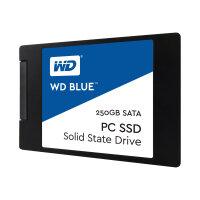"WD Blue PC SSD WDBNCE2500PNC - Solid state drive - 250 GB - internal - 2.5"" - SATA 6Gb/s"
