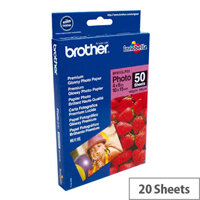 """Brother 6x4"""" Glossy Premium Plus Photo Paper (Pack of 50)"""