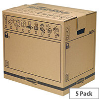Fellowes Bankers Packing Cardboard Boxes Smoothmove Trunk 400x550x420mm (Pack 10)