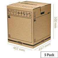 Fellowes Bankers Box Brown Smoothmove Tea Chest 457x457x500mm (Pack of 10)