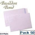 Basildon Bond C4 White Envelopes Pocket Peel and Seal Recycled Pack 50 Ref L80281