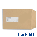 Basildon Bond Window C5 Envelopes Manilla Pocket Peel and Seal E80190 Pack 500