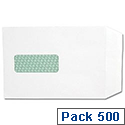 Basildon Bond C5 White Envelopes Pocket Peel and Seal Window Pack 500