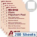 Bi-Office A1 Flipchart Pad Plain Pack of 5 FL010101