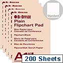 Bi-Office A1 Flipchart Pad Recycled Plain Pack of 5 FL011501