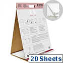 Bi-Office Table Top Self-Stick Flipchart Pad 585x500mm  20 Sheets White FL148303