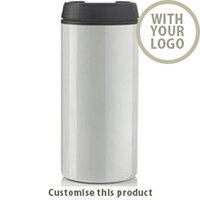 Metro tumbler white 109637 - Customise with your brand, logo or promo text