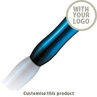 Wave flask light blue 109655 - Customise With Your Logo or Text