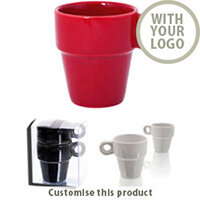 """Stacking Mug Set """"Nora"""" 143774 - Customise with your brand, logo or promo text"""