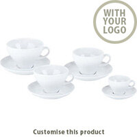 Verona Cup & Saucer 171446 - Customise with your brand, logo or promo text