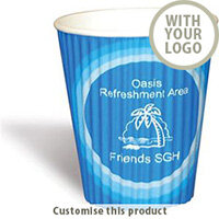 Paper Cup Ripple - 12oz/36cl - Printed 17213 - Customise With Your Logo or Text