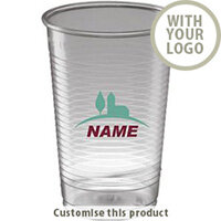Vending - 10oz/300ml - Clear - Disposable 17263 - Customise With Your Logo or Text