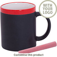 Colorful chalk mug 196862 - Customise with your brand, logo or promo text