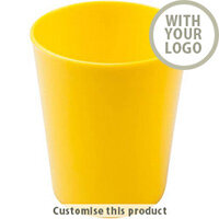 Refresh Drinking Cup Yellow 200203 - Customise with your brand, logo or promo text