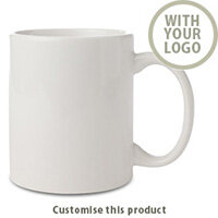 Durham White Porcelain Mug 701102502 - Customise with your brand, logo or promo text