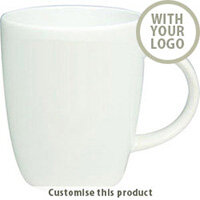 Darwin White Earthenware Mug 701109127 - Customise with your brand, logo or promo text