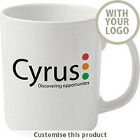 Cambridge White Earthenware Mug 70189611 - Customise with your brand, logo or promo text
