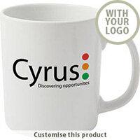 Cambridge White Earthenware Mug 70189611 - Customise with your brand, logo or promo text