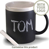 Ceramic mug with chalks 96179 - Customise with your brand, logo or promo text