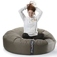Round Brown Bean Bag Large For Indoor or Outdoor Use
