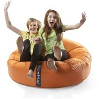Round Orange Bean Bag Large For Indoor or Outdoor Use