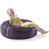 Round Plum Bean Bag Large For Indoor or Outdoor Use