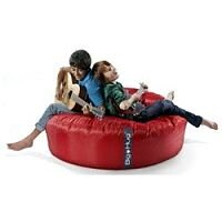 Round Red Bean Bag Large For Indoor or Outdoor Use