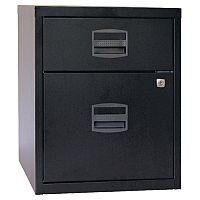 Bisley PFA A4 Mobile Home Filer With 1 Filing & 1 Stationery Drawer Black BY31012
