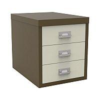 Bisley Multi-Drawer Cabinet 12 inches 3 Drawer Non-Locking Coffee/Cream 12/3