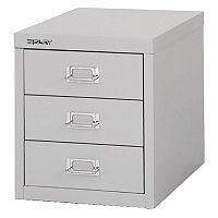 Bisley Multi-Drawer Cabinet 12 inches 3 Drawer Non-Locking Grey 12/3 H123NL-073