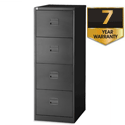 4 Drawer Steel Filing Cabinet Lockable Black Trexus By Bisley