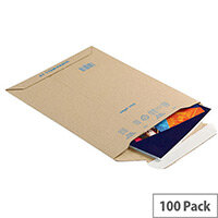 Blake Corrugated Board Envelopes A5 Pk 100 Kraft Pce19
