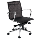 Breeze BM2 Medium Back Mesh Arm Chair Black