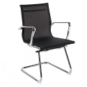 Breeze BMCA Medium Back Chrome Cantilever Mesh Arm Chair Black
