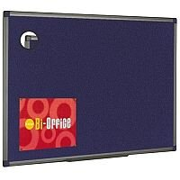 Bi-Office Felt Board 900 x 600mm Blue Aluminium Finish FB0743186