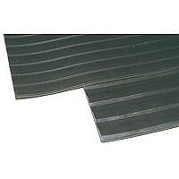 Broad Ribbed Matting 3mm 1200mm x1 Linear Metre Black 379272