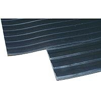 Broad Ribbed Matting 5mm 900mm x1 Linear Metre Black 379273