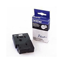 Brother P-Touch Tape 12mm Black/White 4128 TC201